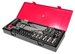 Набор инструментов 40 предметов TORX, HEX (ключи, головки) в кейсе JTC-K1401