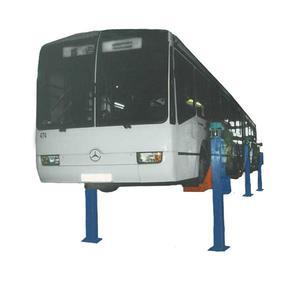 Подъемник шестистоечный электромеханический для автобусов ПС-15 по ТЗ